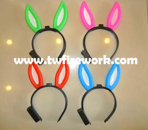 可爱发亮兔耳朵发夹